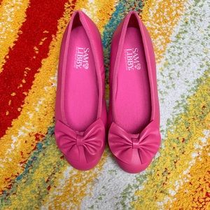 Sam & Libby Hot Pink Leather Girls Flats